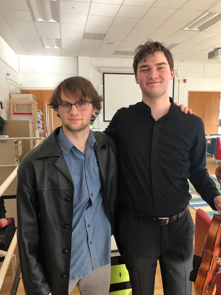 With Nathan Meltzer Following his concert with the Charlotte Civic Orchestra