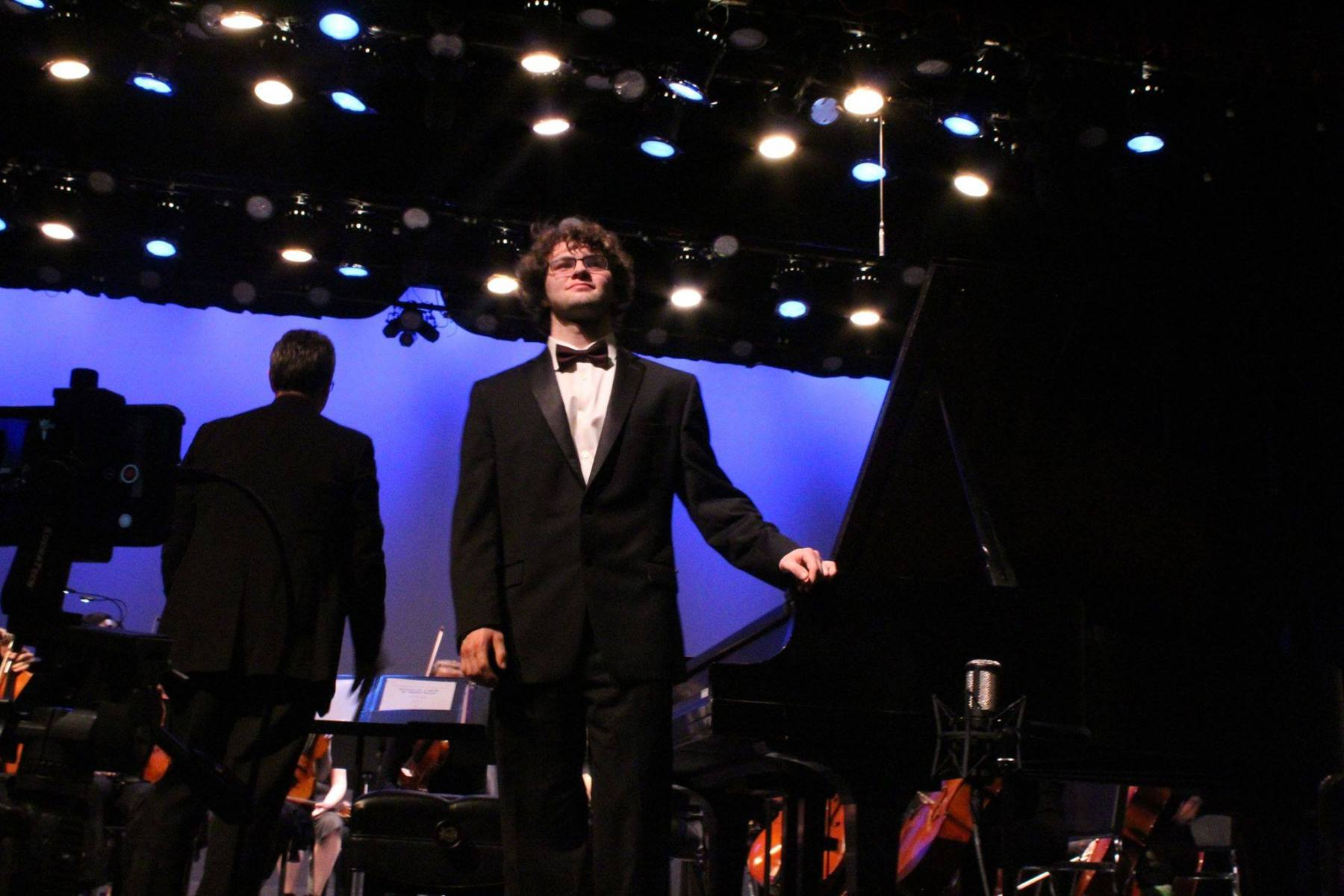 Receiving Accolades after Mozart K466 Solo Performance